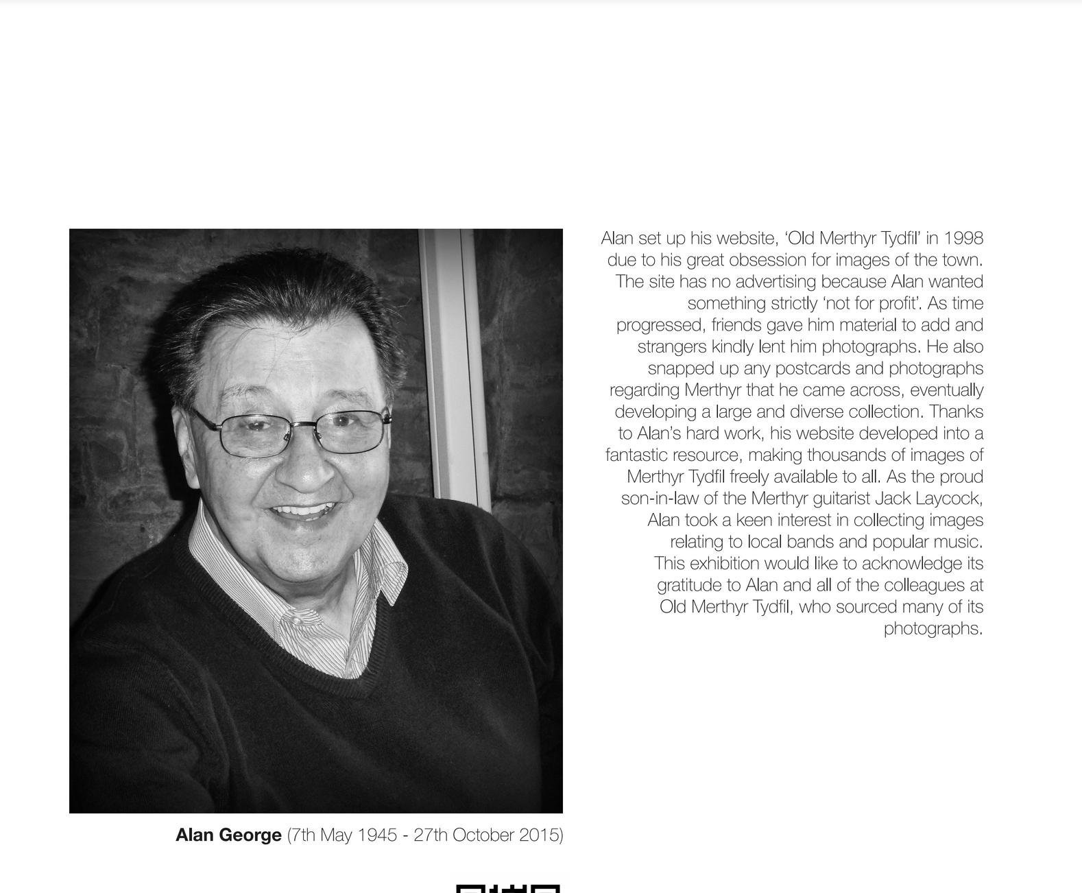 Tribute to Alan George