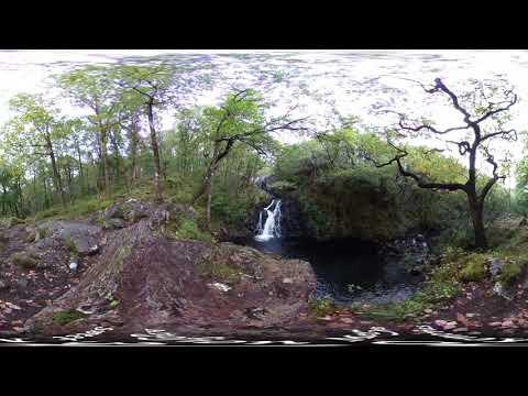 Black Falls (Rhaeadr Ddu), Ganllwyd, 2018 (360...