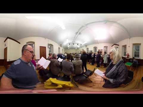 Singing 'Moliannwn' in the vestry of...