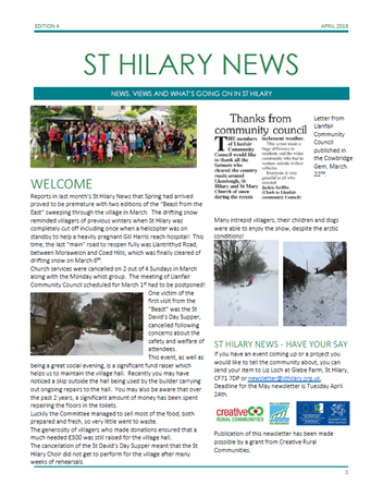 St Hilary News April 2018