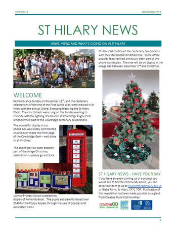 St Hilary News December 2018