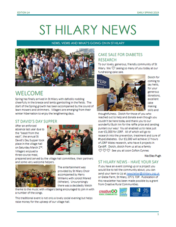 St Hilary News Early Spring 2019