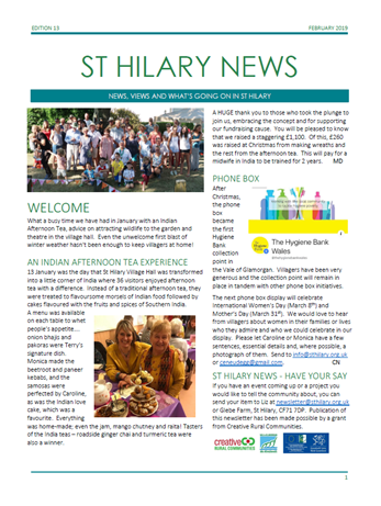 St Hilary News February 2019