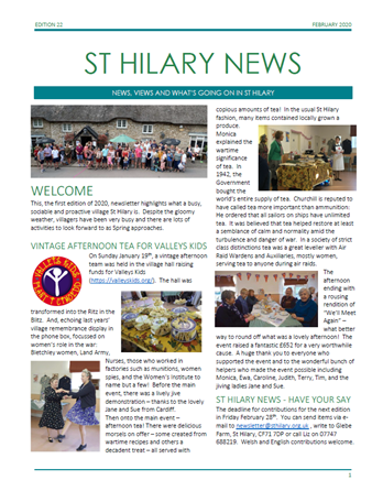 St Hilary News February 2020