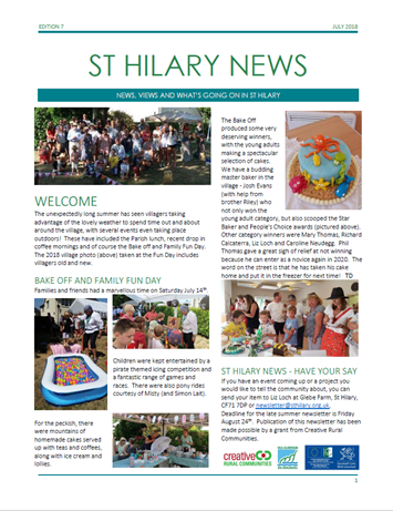 St Hilary News July 2018