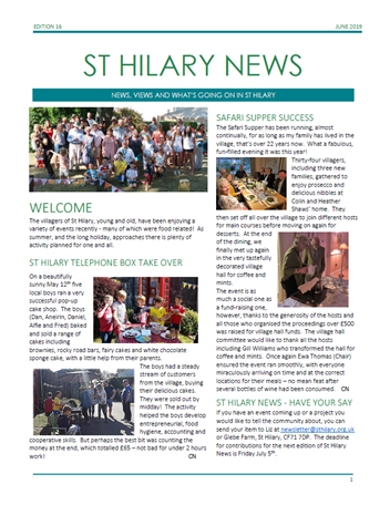St Hilary News June 2019