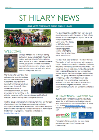 St Hilary News March 2018