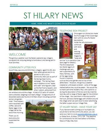 St Hilary News May 2019