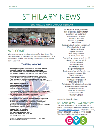 St Hilary News May 2020