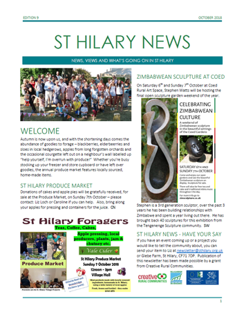 St Hilary News October 2018