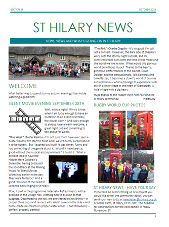 St Hilary News October 2019