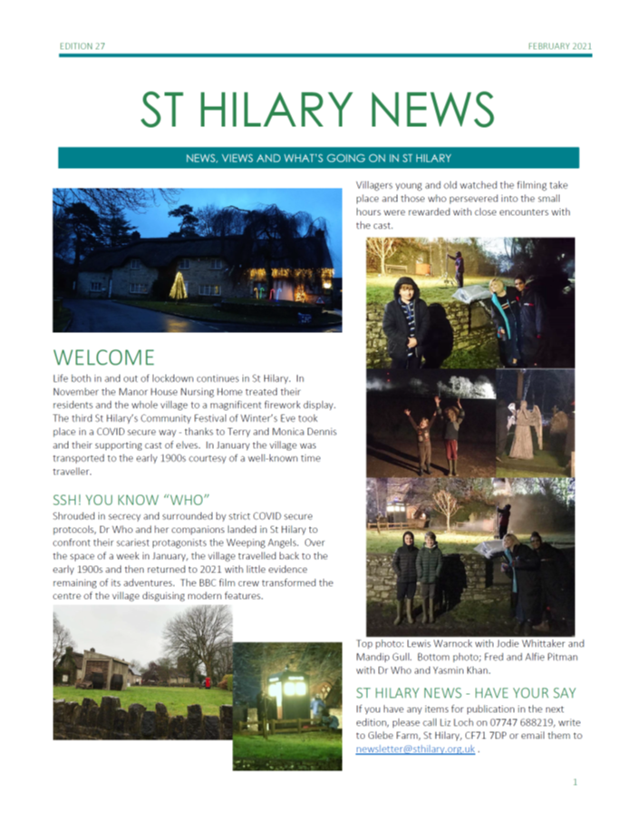 St Hilary News February 2021