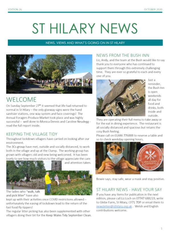 St Hilary News October 2020