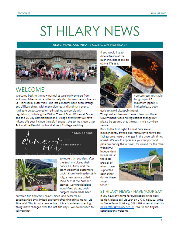 St Hilary News August 2020