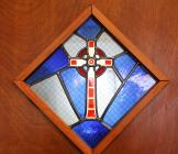 Stained glass window in the Chapel at Community...