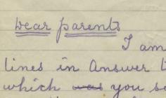 Owen Ashton's First World War letters