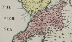 Mapiau Siroedd Cymru gan Thomas Taylor, 1718