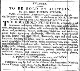 Auction Notices from Swansea newspaper The...