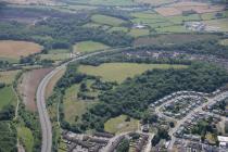 Aerial photograph of Caerau Hillfort