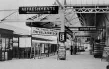 Sign to Devil's Bridge in Aberystwyth...