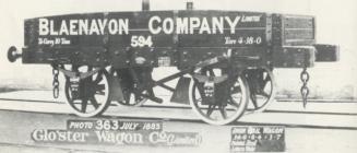 Wagen Blaenavon Co., Gorffennaf 1883.