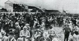 Paddock at Ely Races, 1924