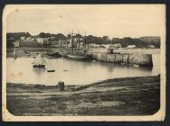 Saundersfoot harbour and village.