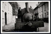 Tramway engine, Railway Street, Saundersfoot.