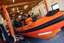 Commissioner visits Aberystwyth Lifeboat