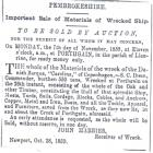 CAROLINA lost Porthgain 25-26 October 1859