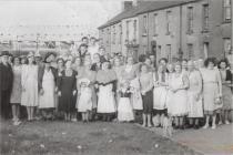 Festival tea for the children of Bwlch y Gwynt