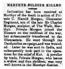 Merthyr Soldier Killed - Monmouth Guardian 23...
