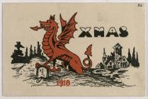 Christmas Card Welsh Army Corps 1918