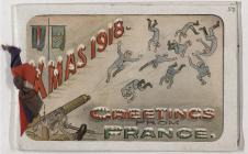 Christmas Card 8th Battalion Machine Gunners 1918