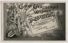 Christmas card from H.M.S Thunderer