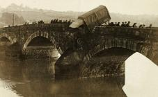 Accident on the Caerleon bridge, October 6th 1919
