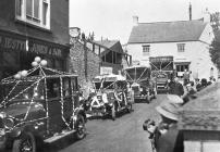 Peace celebration procession at Llantwit Major,...