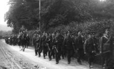 Military March in Llanidloes c1910-1920