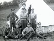 Soldiers at the Llanidloes Military Camp c1910...