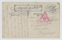 Postcard from Charlie to Blanch N Wooton,  sent...