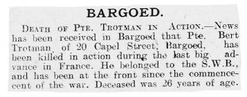 Bargoed - Merthyr Pioneer 09-10-1915