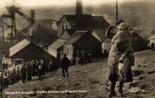 A child and a baby during the Senghenydd pit...