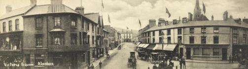 Victoria Square, Aberdare c1905