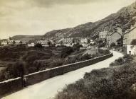 Handlith Terrace a Harlech Road yn Bermo c1910