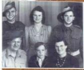 Private Richard Lewis and his family after...
