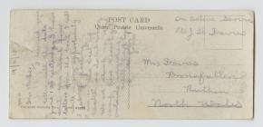 WW1 Postcard sent home to Ruthin by Private...