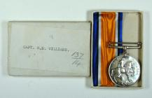 British War Medal belonging to Lt. William...