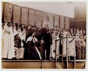 Lloyd George speaks at the 1935 Eisteddfod