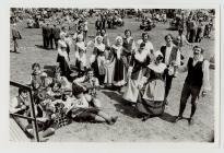 Folk dancing competitors Eisteddfod, 1978