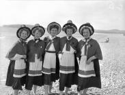 Girls in Welsh national costume, Eisteddfod 1955